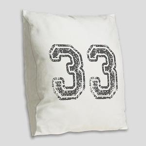 33-Col gray Burlap Throw Pillow