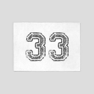 33-Col gray 5'x7'Area Rug