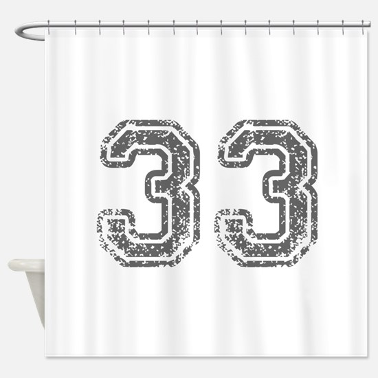 33-Col gray Shower Curtain