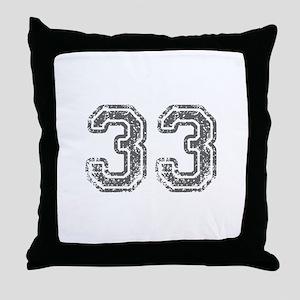 33-Col gray Throw Pillow