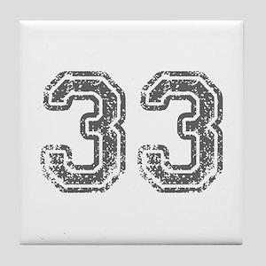 33-Col gray Tile Coaster
