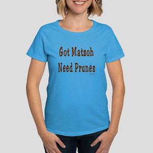 Matzoh and Prunes Passover Women's Dark T-Shirt