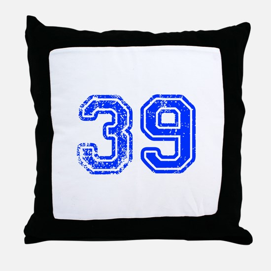 39-Col blue Throw Pillow