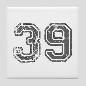39-Col gray Tile Coaster