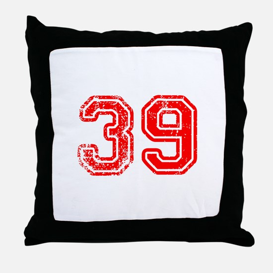 39-Col red Throw Pillow