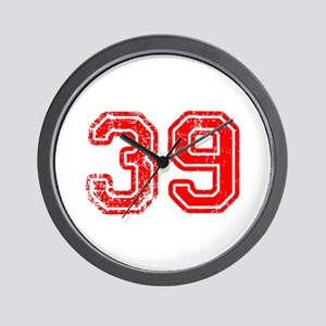 39-Col red Wall Clock