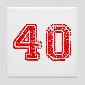 40-Col red Tile Coaster