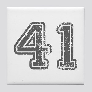 41-Col gray Tile Coaster