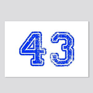 43-Col blue Postcards (Package of 8)
