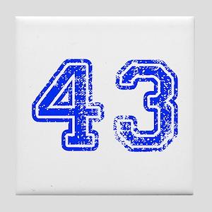 43-Col blue Tile Coaster