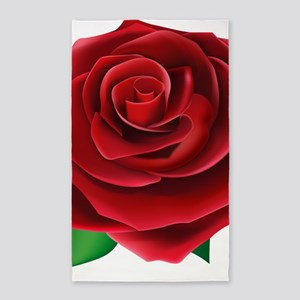 Red Rose Area Rug