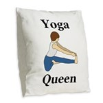 Yoga Queen Burlap Throw Pillow