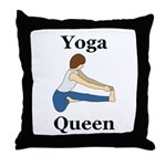 Yoga Queen Throw Pillow