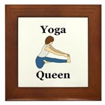 Yoga Queen Framed Tile