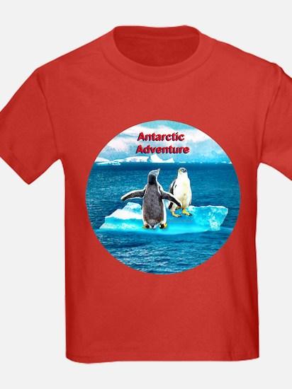 Antarctic Icebergs and penguins - T