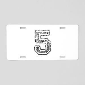 5-Col gray Aluminum License Plate