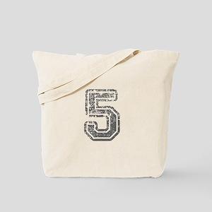 5-Col gray Tote Bag