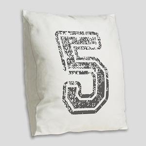 5-Col gray Burlap Throw Pillow