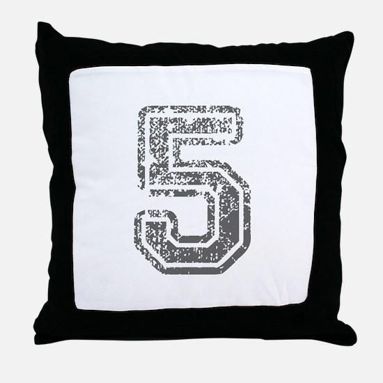 5-Col gray Throw Pillow