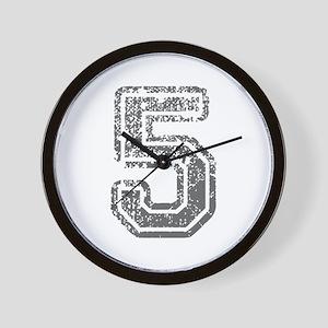 5-Col gray Wall Clock