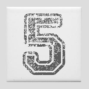 5-Col gray Tile Coaster