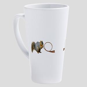 Squirrel Horn 17 oz Latte Mug