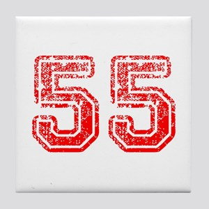 55-Col red Tile Coaster