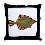 Starry Flounder Throw Pillow