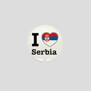 I love Serbia Mini Button