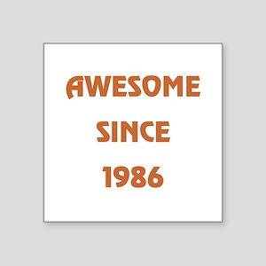 """1986 Square Sticker 3"""" x 3"""""""