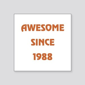 """1988 Square Sticker 3"""" x 3"""""""