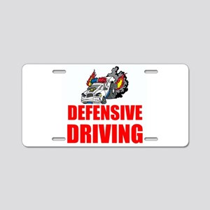 Defensive Driving Aluminum License Plate