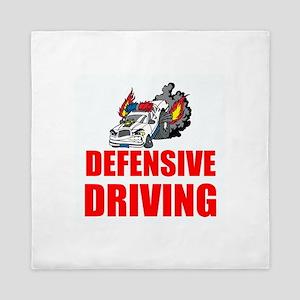Defensive Driving Queen Duvet