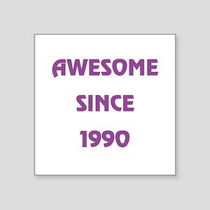 """1990 Square Sticker 3"""" x 3"""""""