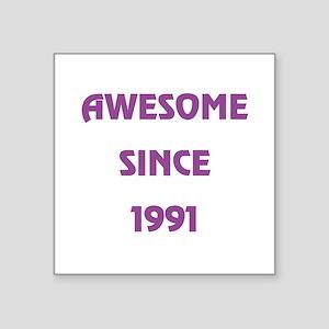"""1991 Square Sticker 3"""" x 3"""""""