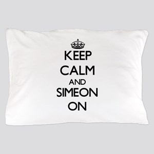 Keep Calm and Simeon ON Pillow Case