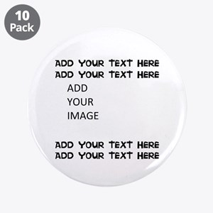 """Custom Text And Image 3.5"""" Button (10 Pack)"""