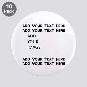 "Custom Text And Image 3.5"" Button (10 Pack)"
