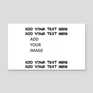 Custom Text And Image Rectangle Car Magnet