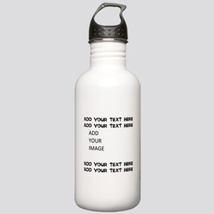 Custom Text and Image Water Bottle