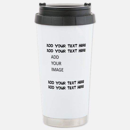 Custom Text and Image Travel Mug