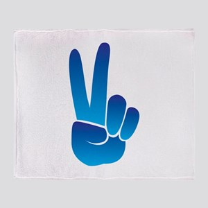 Peace Sign Throw Blanket