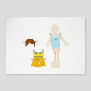 Paper Doll 5'x7'Area Rug