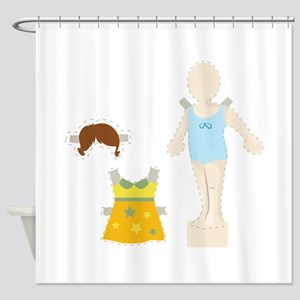Paper Doll Shower Curtain