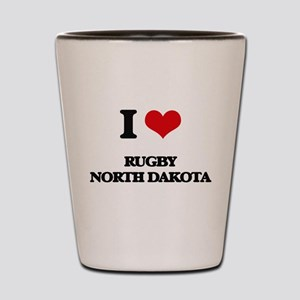 I love Rugby North Dakota Shot Glass