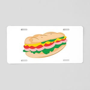 Sub Sandwich Aluminum License Plate