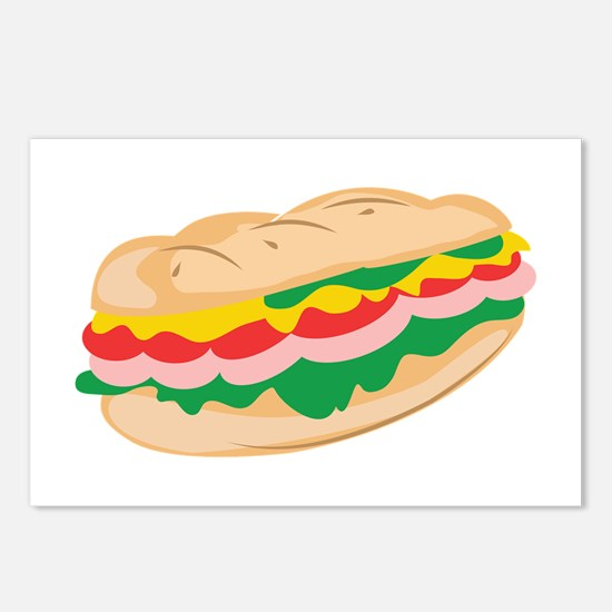 Sub Sandwich Postcards (Package of 8)