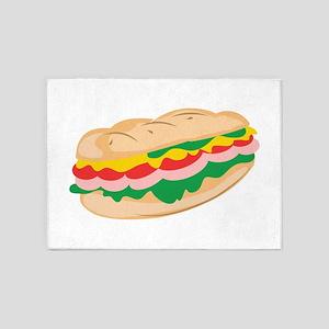 Sub Sandwich 5'x7'Area Rug