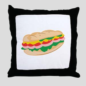 Sub Sandwich Throw Pillow