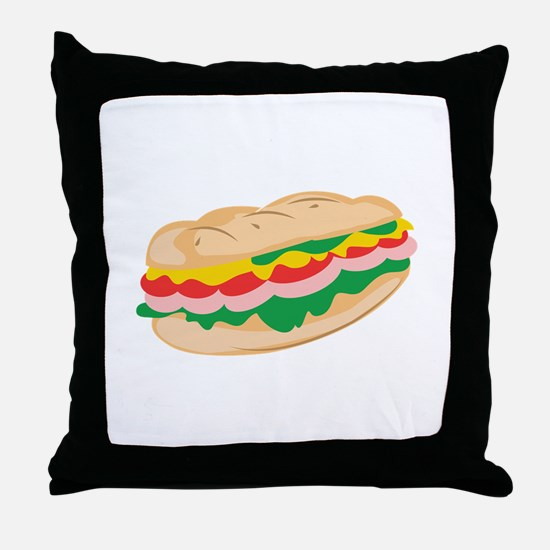 Sub Sandwich Throw Pillow